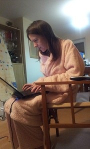 Blogging in my Pj's, in the only chair I can sit in now! Back into the 6 tomorrow - promise!
