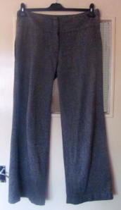 Item 1: a pair of perfect woollen trousers