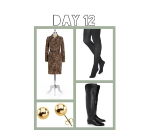 I had to attend a funeral today and the animal print dress with opaque tights and boots worked just fine.  TIP: I've been washing key pieces of clothing - like my good quality tights as soon as I take them off each day. That way I'm ready for anything in the morning.